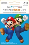 Nintendo eShop Wii 3DS WiiU Switch Gamecard 15 EUR
