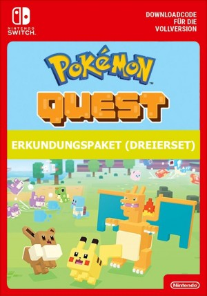 Pokemon Quest: Erkundungspaket (Dreierset) - Switch eShop Code