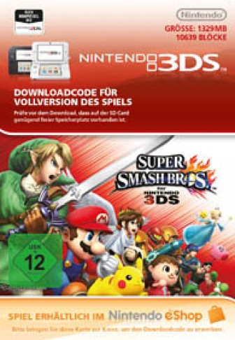 Super Smash Bros. für Nintendo 3DS - eShop Code