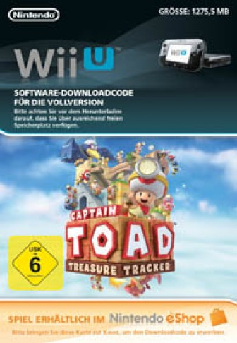 Captain Toad: Treasure Tracker - WiiU eShop Code