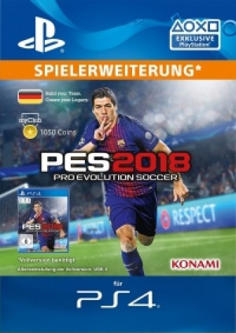 PES 2018 myClub Coin 1050 - PS4 Code