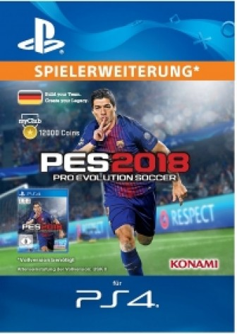 PES 2018 myClub Coin 12000 - PS4 Code
