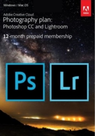 Adobe Creative Cloud Foto-Abo (Lightroom & Photoshop) - 1 Jahreslizenz (PC/MAC)