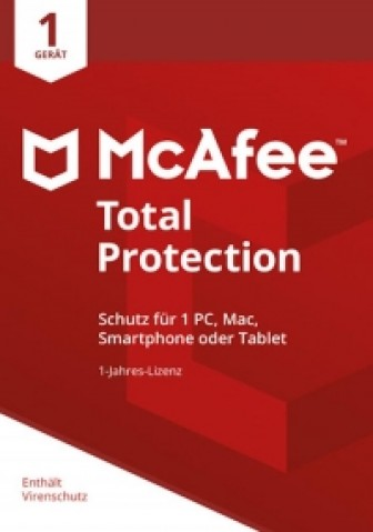 McAfee Total Protection 2018 - 1 User - 1 Jahr