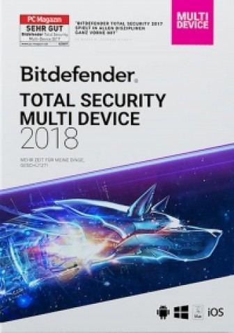 BitDefender Total Security Multi-Device 2018 - 5 Geräte / 2 Jahre