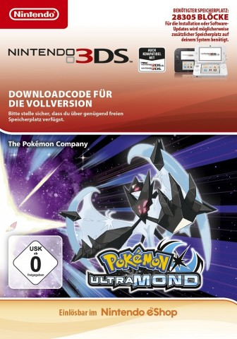 Pokemon Ultramond - eShop Code