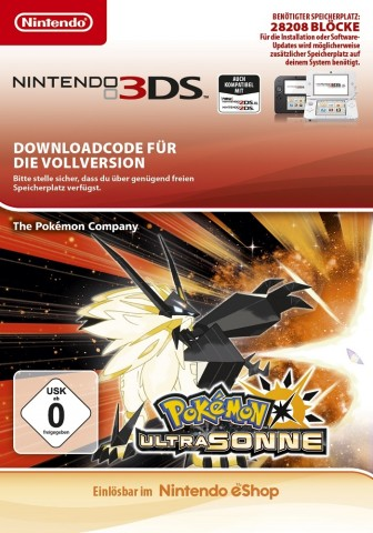 Pokemon Ultrasonne - eShop Code