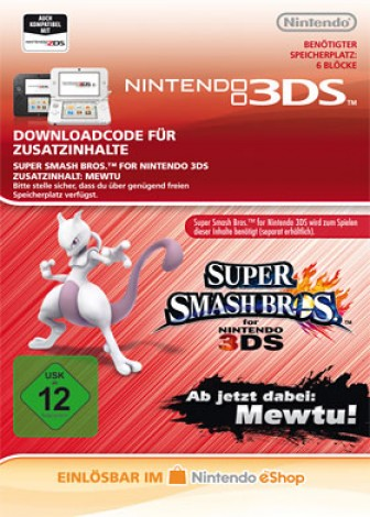 Super Smash Bros. für 3DS - Mewtu - eShop Code
