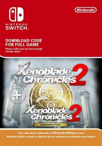 Xenoblade Chronicles 2 mit Erweiterungspass - eShop Code Bundle