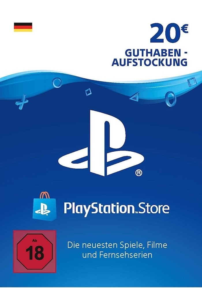 PSN Card kaufen, PSN Card 20 Euro, Playstation Network